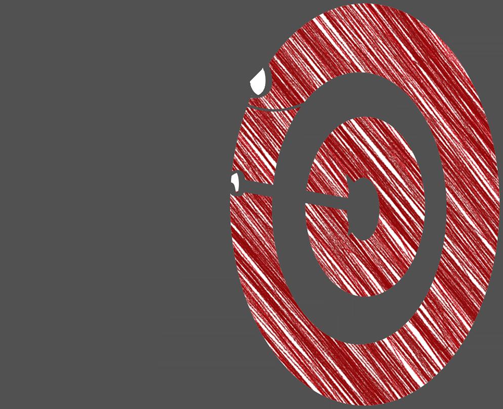 Strichmänchen Zielscheibe